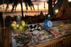Morska hrana na filipinskem otoku Boracay