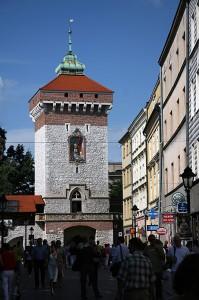 Florijanova vrata v Krakovu na Poljskem