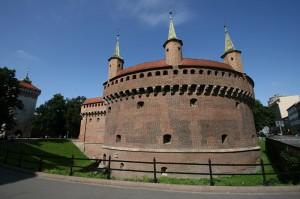 Barbakan v Krakovu na Poljskem