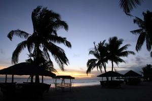Sončni vzhod na otoku Bantayan na Filipinih