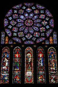 Vitraži v katedrali v Chartresu