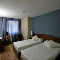 Udobna soba v hotelu Guillermo Tell v Barceloni