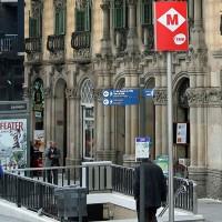 Vhod na postajo metroja v Barceloni