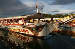 Na krajših razdaljah med filipinskimi otoki vozijo manjši čolni