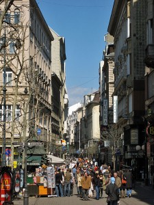 Ulica Vaci v Budimpešti