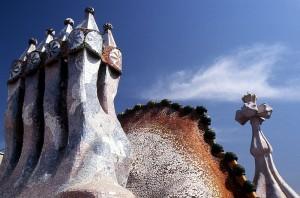Streha hiše Casa Battlo v Barceloni