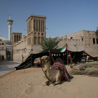Slikovita četrt Bastakiya v starem Dubaju