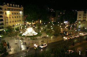 Pogled z balkona hotelske sobe hotela Juan Miguel v Granadi