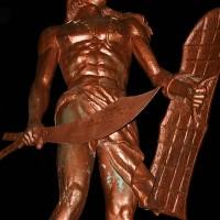 Kip poglavarja Lapu Lapu na otoku Mactan v Cebu Cityju na Filipinih