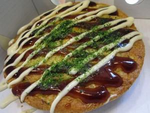 Zelenjavna omleta okonomi-yaki