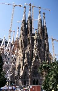 Gaudijeva cerkev Sagrada Familia v Barceloni