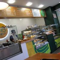 Japonska pekarna/restavracija s hitro hrano Yaki v Londonu