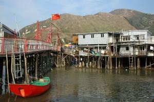 Idilična ribiška vas Tai O v Hong Kongu