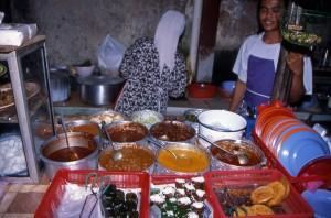 Malajska stojnica s hrano v Kuala Lumpurju