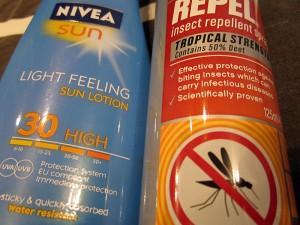 Če se odpravljate v trope, ne pozabite na zaščito pred soncem in komarji
