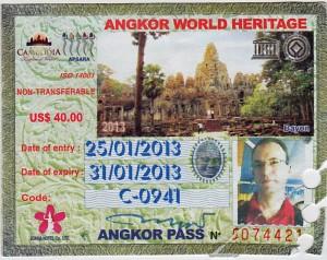 Tridnevna vstopnica za arheološki park Angkor
